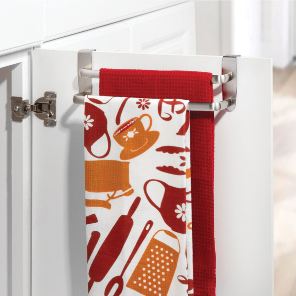Over Cabinet Door Towel Bar for Kitchen and Bathroom