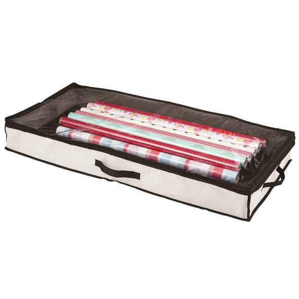 Fabric - Under Bed Storage Organizer Bag with Zippered Lid