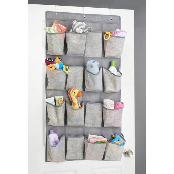 Over-the-Door Fabric Hanging Nursery Storage Organizer