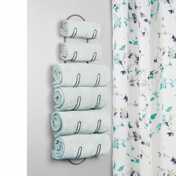 6-Tier Wall Mount Bathroom Towel Holder Storage Rack