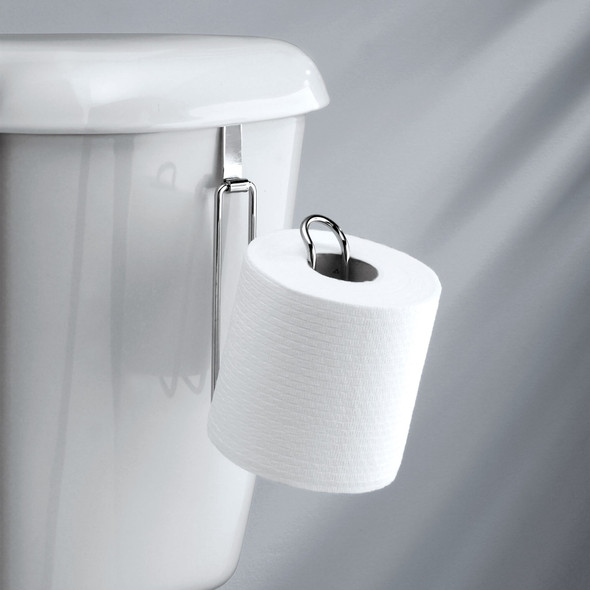Metal Wire Over Tank Toilet Tissue Paper Roll Holder & Dispenser - 1 Roll