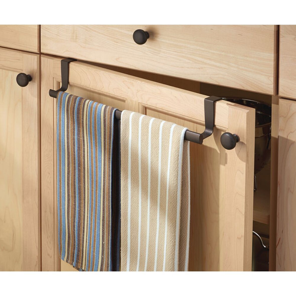 Metal Expandable Over Cabinet Door Towel Bar for Home