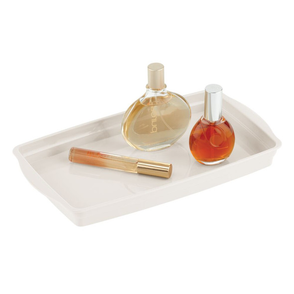 Plastic Storage Organizer Tray for Dresser, Bathroom Vanity Countertop