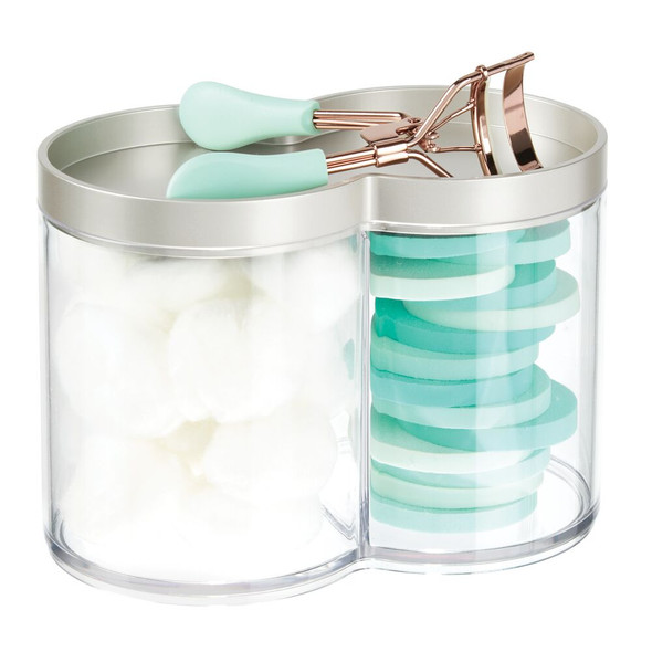 Stacking Bathroom Vanity Storage Canister Jar