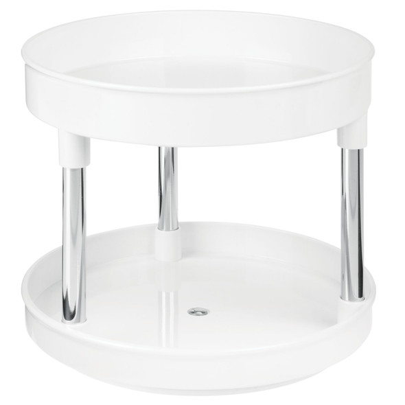 """2-Tier Lazy Susan Turntable for Office Storage - 9"""" Round"""