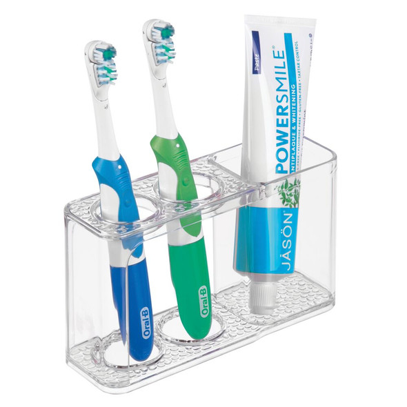 Toothbrush Holder Stand for Bathroom Countertop - Clear