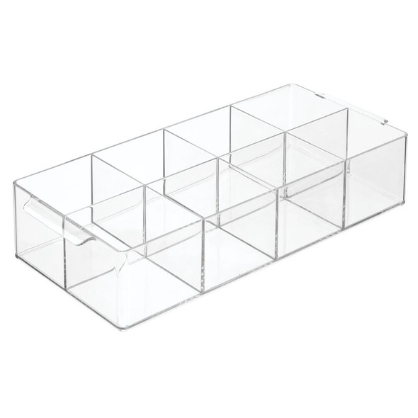8 Compartment Plastic Makeup Cosmetic Organizer