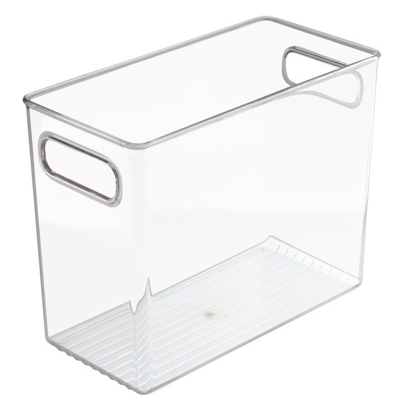 "Plastic Toy Storage Bin with Handles - 10"" x 5"" x 8"""