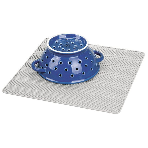 """Silicone Kitchen Counter Drying Mat Protector - 12"""" x 12"""""""