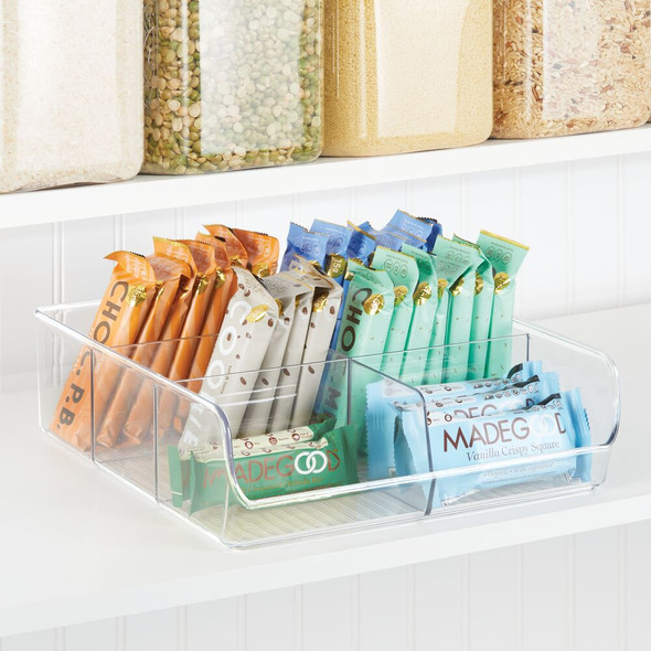 6 Section Plastic Kitchen Pantry Food Organizer - Clear