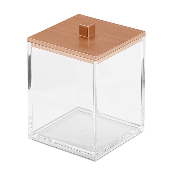 Square - Plastic Bathroom Vanity Storage Canister Jar