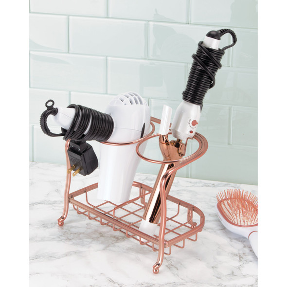 Bath Vanity Metal Hair Dryer Tool Rack Stand Holder