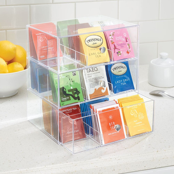 Tea Bag Holder and Condiment Accessory Organizer Box
