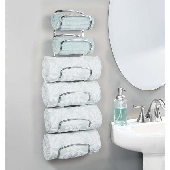 6-Tier Wall Mount Bathroom Towel Holder/ Storage Rack