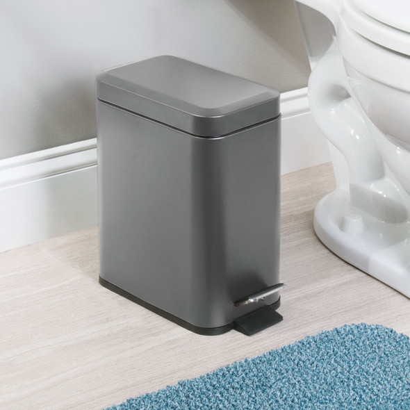 5 Liter Rectangular Metal Step Trash Can Garbage Bin