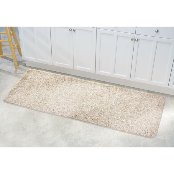 "Microfiber Rectangular Bathroom Rug, 60"" Long Runner"
