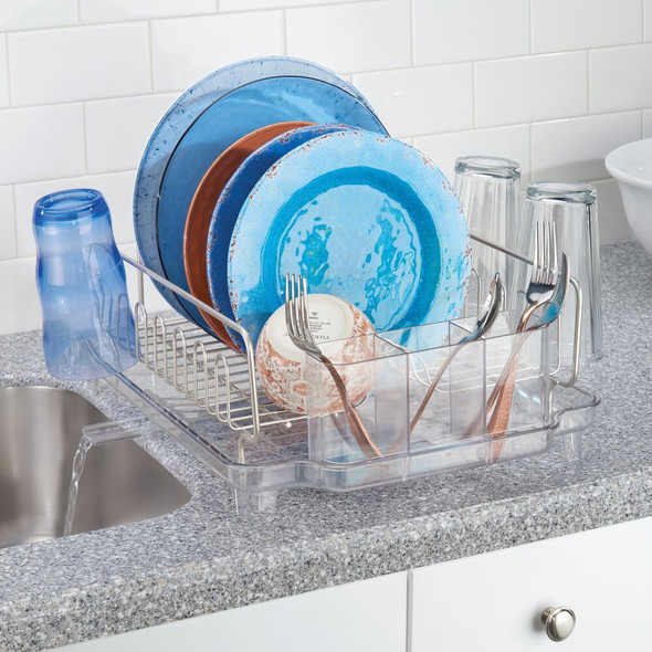 Large Kitchen Sink Dish Drying Rack - Swivel Spout