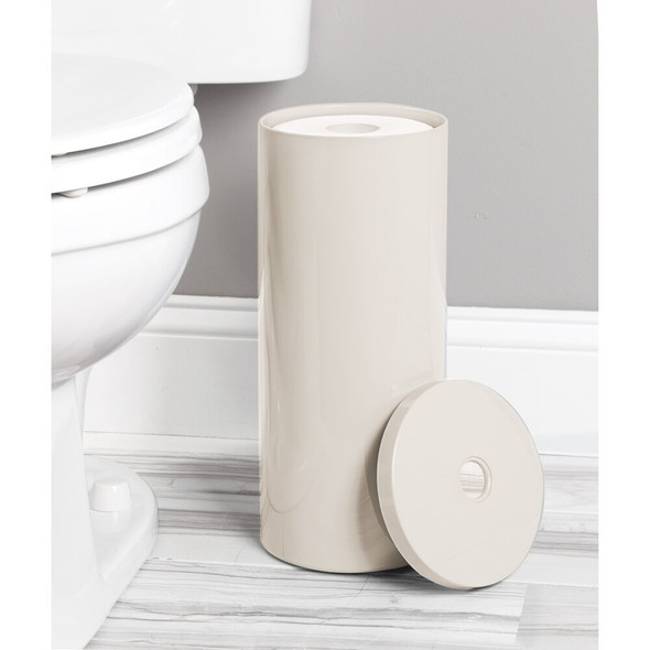 Plastic Toilet Tissue Paper Roll Holder Canister
