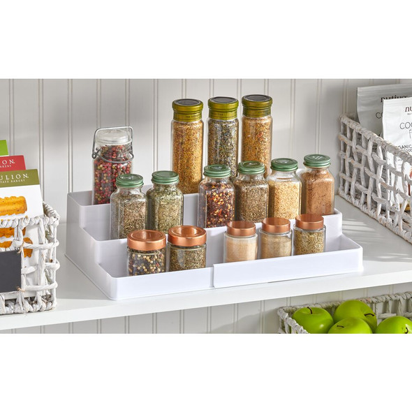 3 Tier Expandable Kitchen Spice Rack Organizer