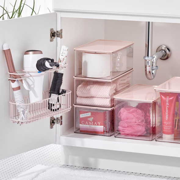 Metal Wire Wall Mount Hair Care Tool Rack Holder for Hair Dryer