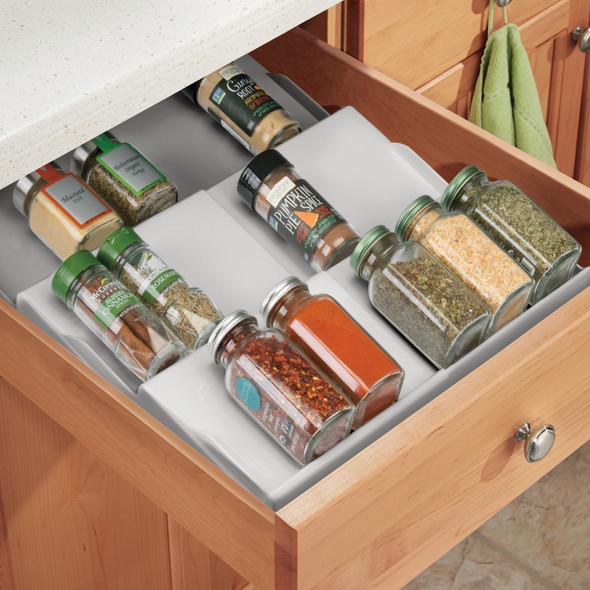 Expandable Kitchen Spice Rack Drawer Organizer