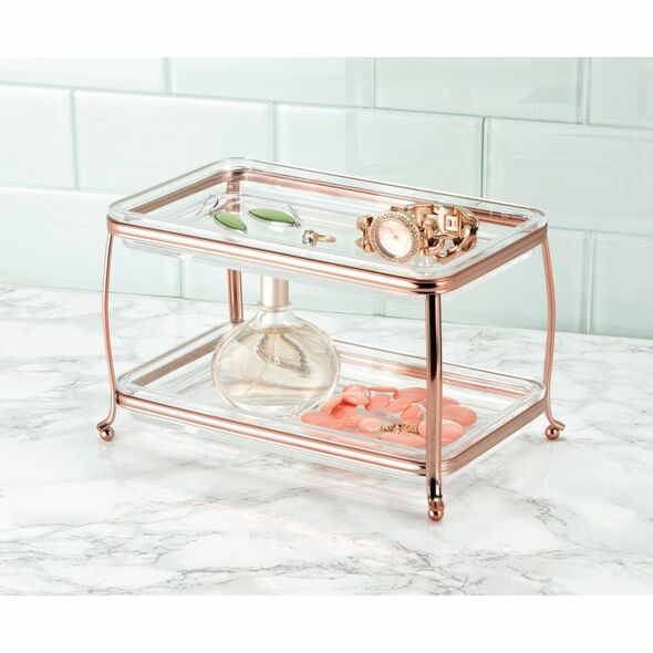 2 Tier Vanity Cosmetic Storage Organizer Tray