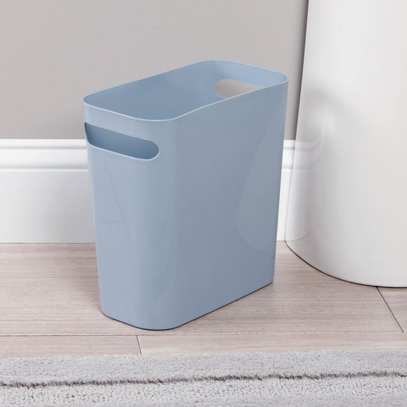 "Small Plastic Trash Can Garbage Bin - 10"" High"