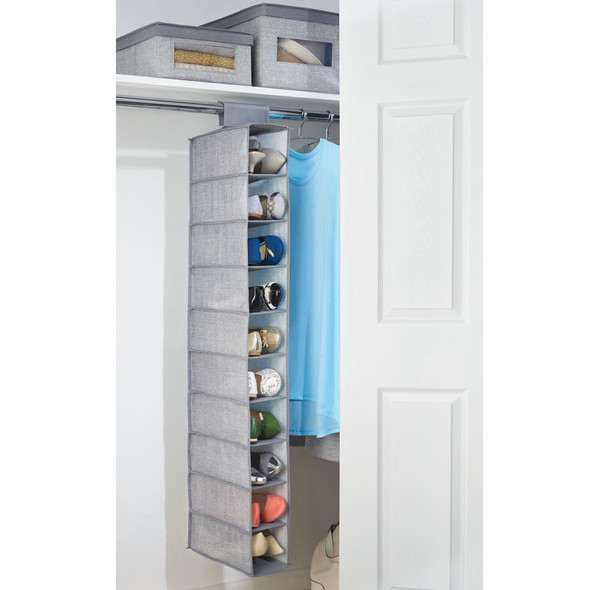 Vertical Fabric Shoe Rack Floor Stand - Closet Storage