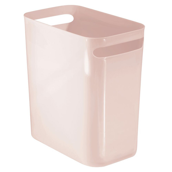"Plastic Slim Trash Can Garbage Bin, 12"" High"