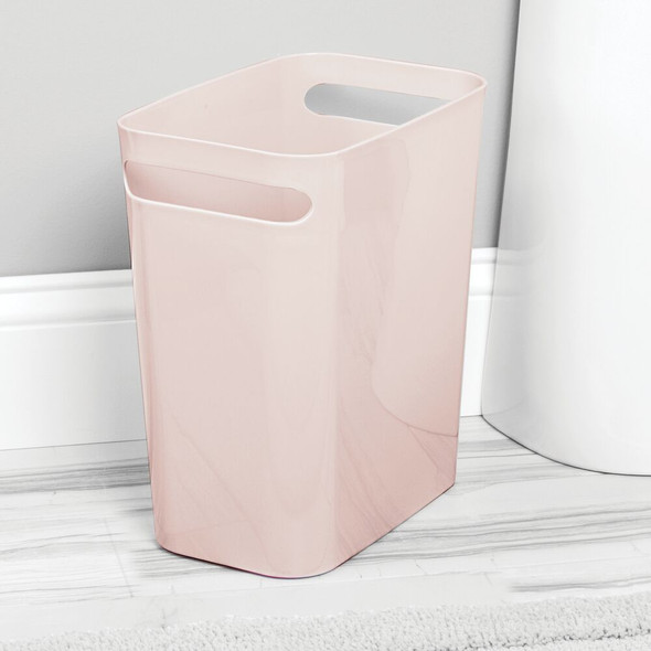 "Small Plastic Slim Trash Can Garbage Bin, 12"" High"