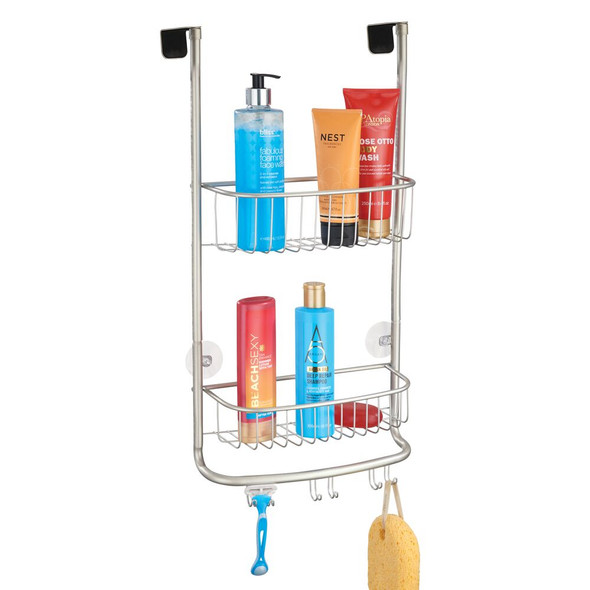 Metal Over Door Hanging Bathroom Tub/Shower Caddy