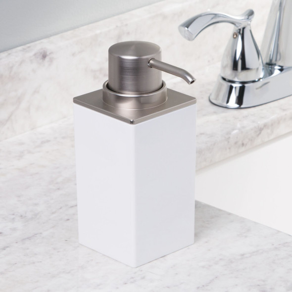 Square Plastic Refillable Liquid Soap Dispenser Pumps - Pack of 2