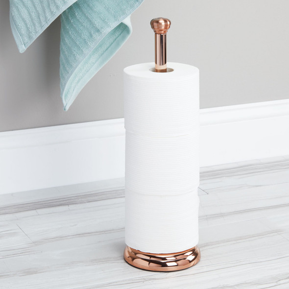 Modern Metal Toilet Tissue Paper Roll Holder Stand