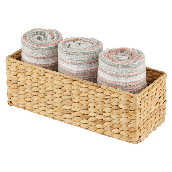 Natural Woven Hyacinth Storage Basket