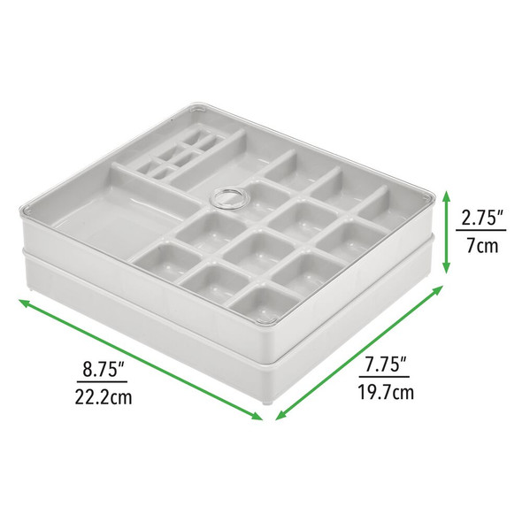 35 Compartment Plastic Jewelry, Bead, Sewing Storage Trays - Set of 3