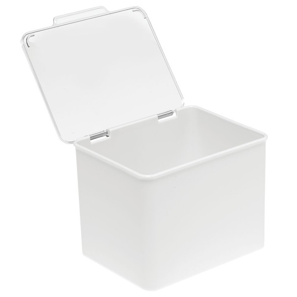 Stackable Plastic Household Container with Hinged Lid