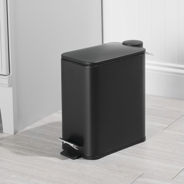 Slim 5 Liter Metal Step Trash Can Garbage Bin