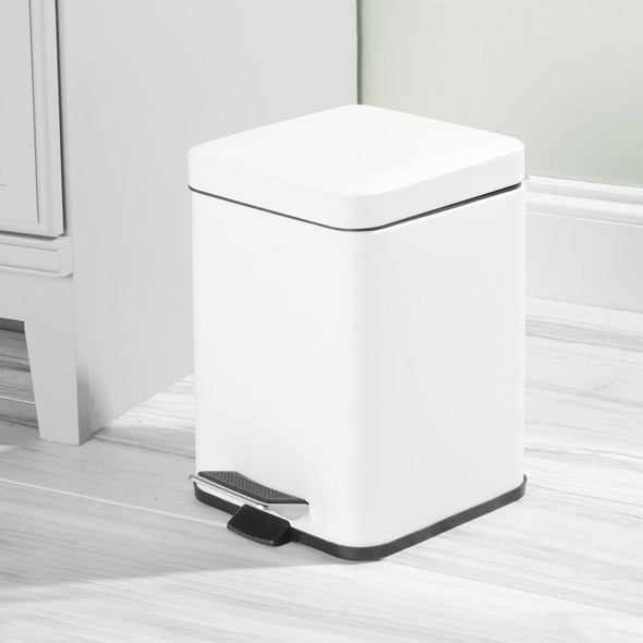 Modern 6 Liter Metal Step Trash Can Garbage Bin