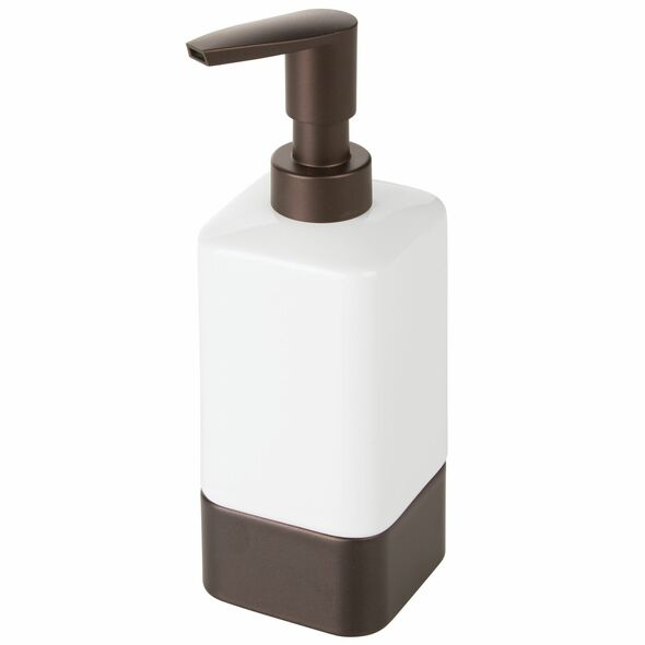 Square Ceramic Refillable Liquid Soap Dispenser Pump - Pack of 2