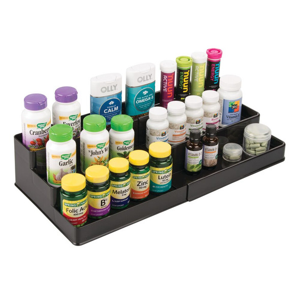 Expandable Vitamin Organizer for Bathroom Storage - Pack of 2