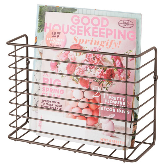 Metal Wall Mount Magazine Rack Newspaper Stand