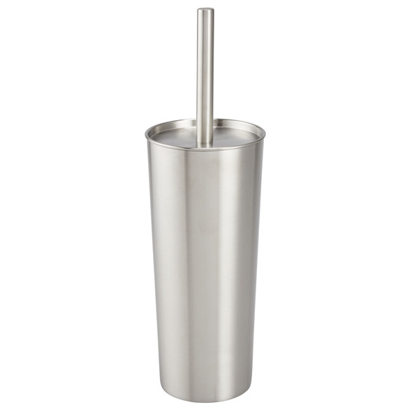 Compact Metal Toilet Bowl Brush and Holder
