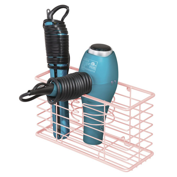 Metal Wire Wall Mount Hair Care Tool Holder