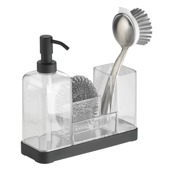 Kitchen Counter Soap Pump with Sponge Caddy - Plastic