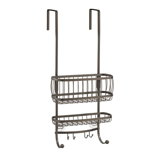 Tall Over Door Bathroom Tub/Shower Caddy, Hanging Storage Center