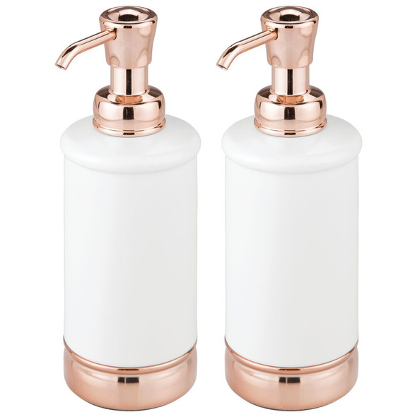 Metal Refillable Liquid Soap Dispenser Pump - Pack of 2
