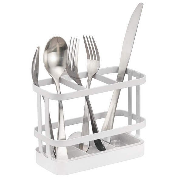 3 Section Metal Wire Kitchen Cutlery Flatware Caddy