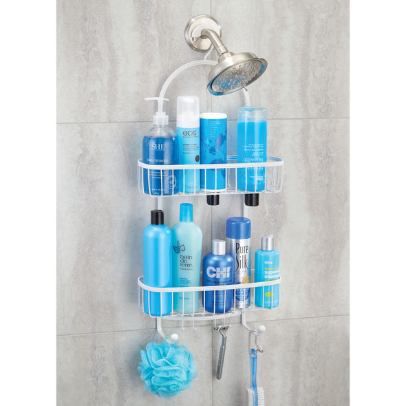 XL Metal Wire Bathroom Tub/Shower Caddy, Hanging Storage
