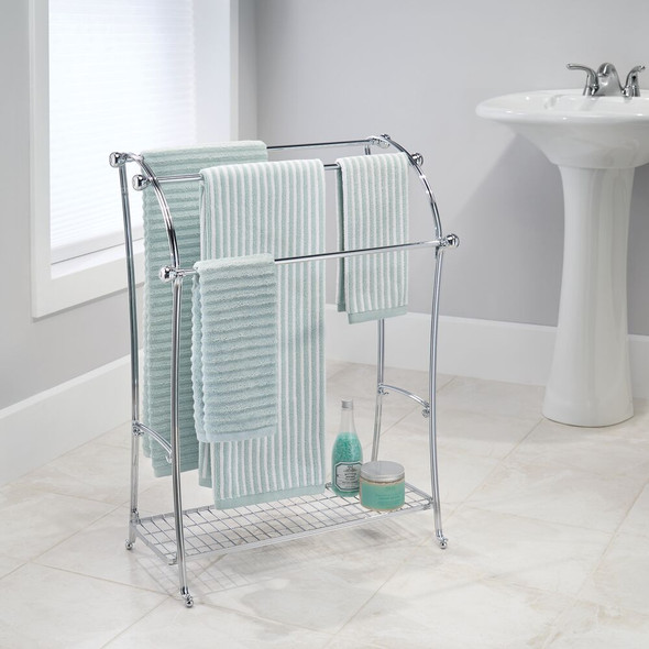 Free Standing Towel Rack Stand Bathroom Storage