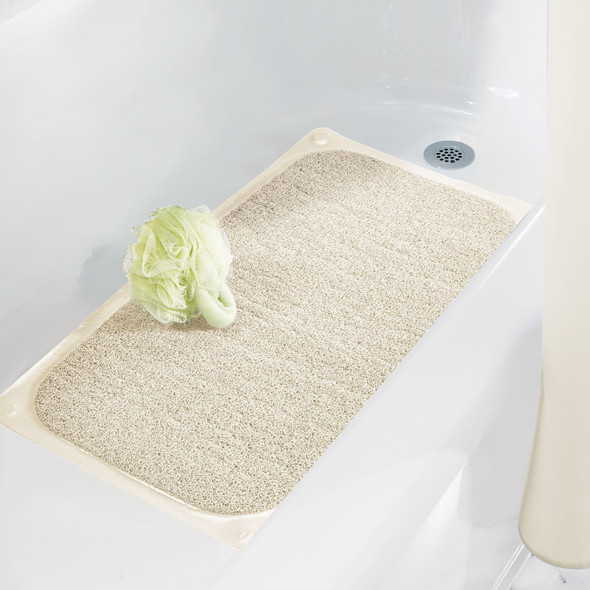 Soft Cushioned Shower/Bath Mat with Non-Slip Suction